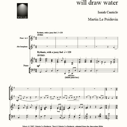 With Joy You Shall Draw Water – Isaiah 12 – Martin Le Poidevin