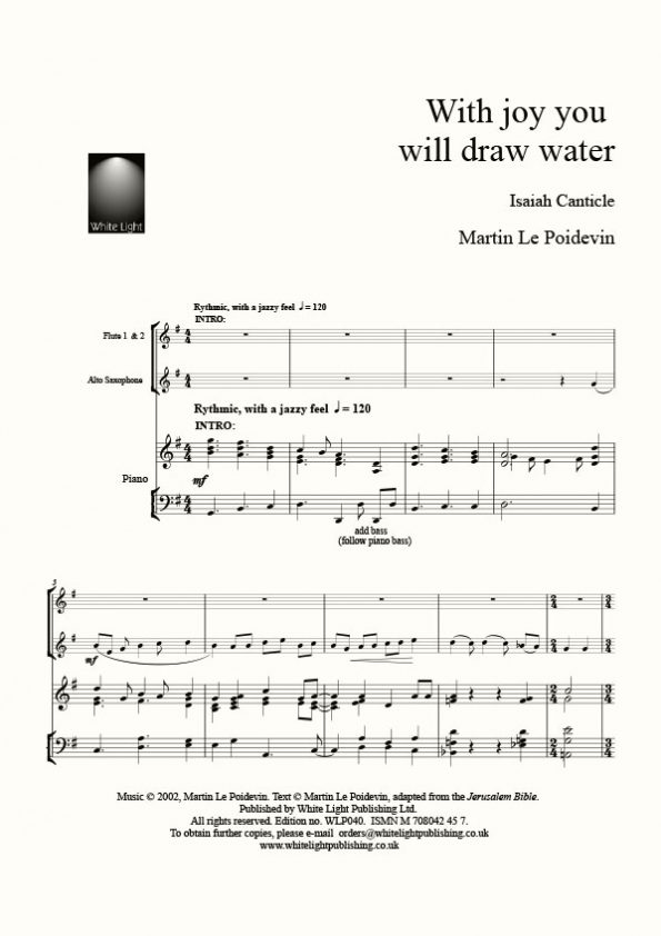 With joy you will draw water