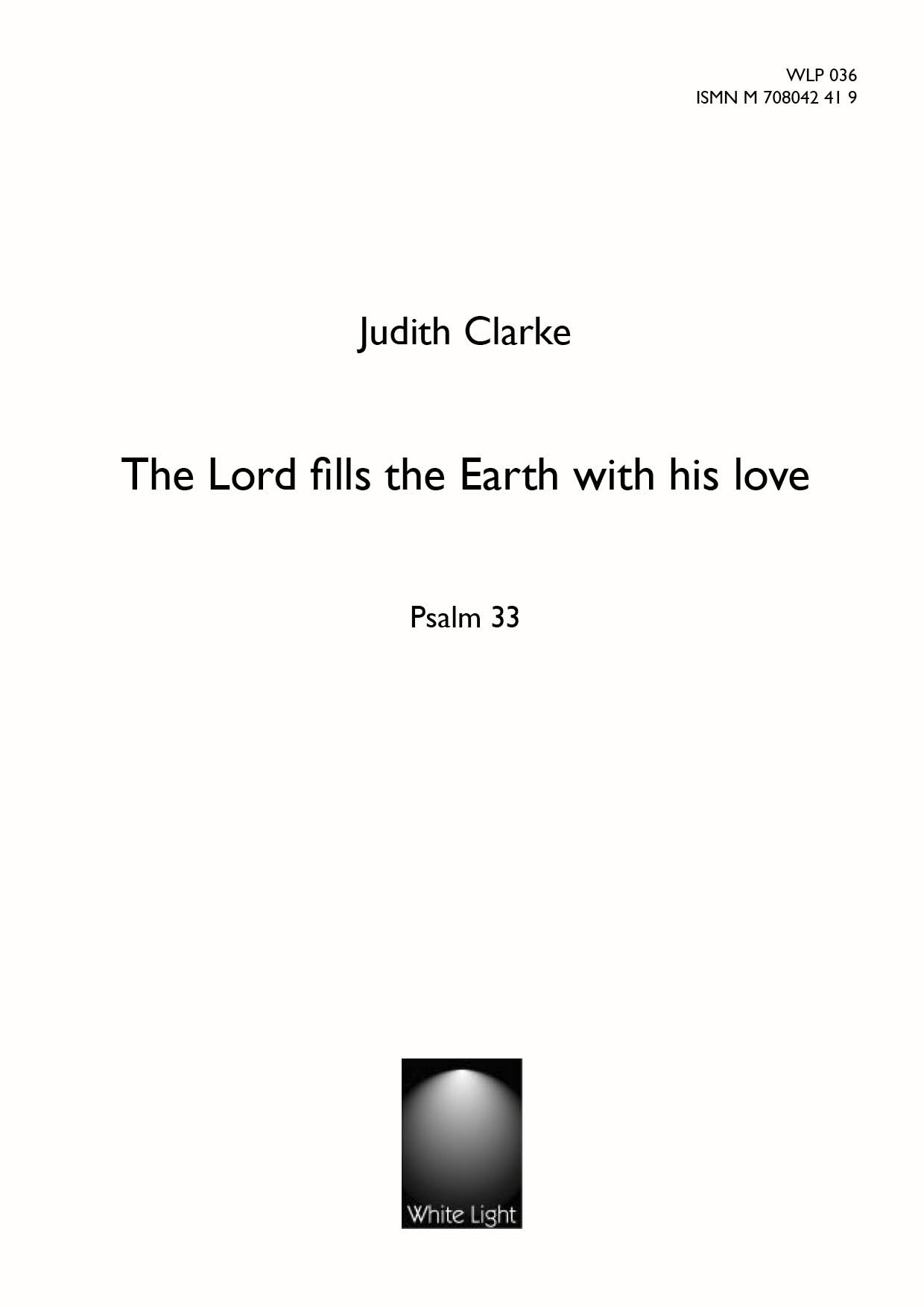 The lord fills the earth with his love